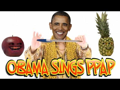 BARACK OBAMA SINGS PPAP CHALLENGE (Piko-Taro - PEN...