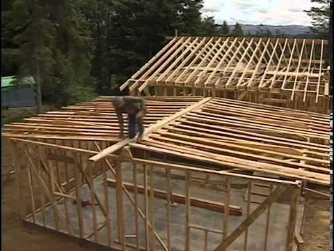 видео: Сборка каркасной крыши