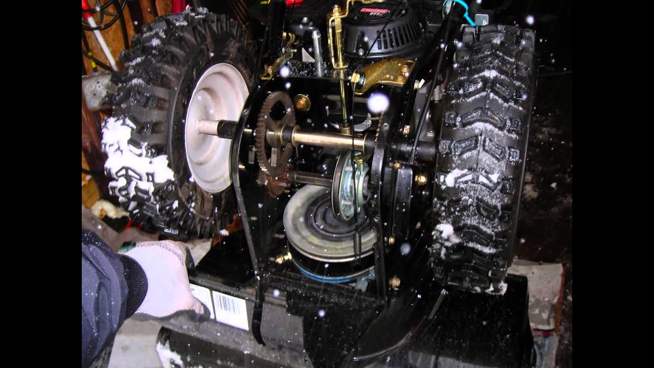 Craftsman Snow Blower Replace Part : How to change replace auger belt on quot inch craftsman