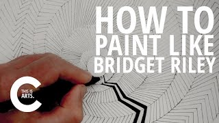 HOW TO PAINT LIKE BRIDGET RILEY WITH CIRCLE LINE | CANVAS