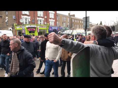 Millwall fan punches Spurs fan