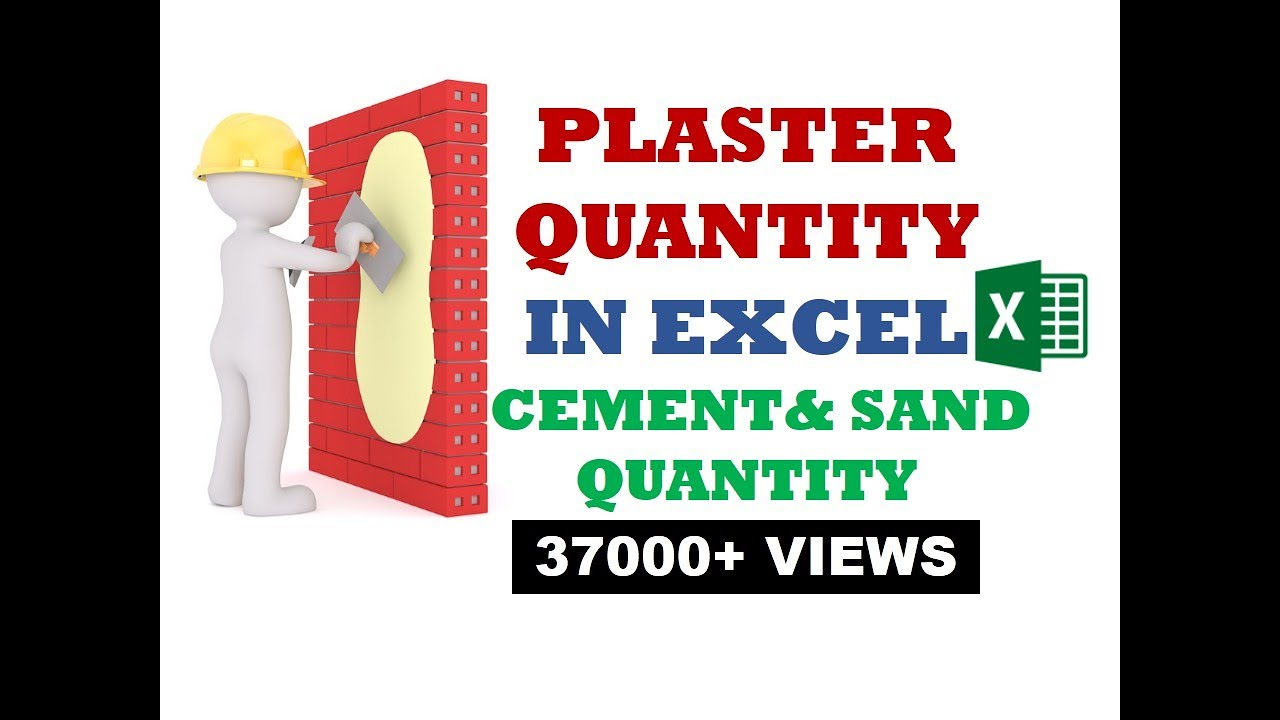 Plaster Work Estimating Quantity Of Cement And Sand For