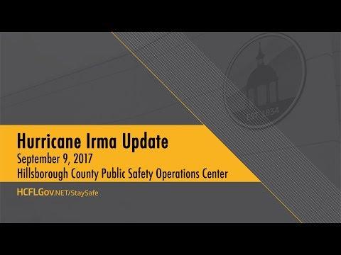 Hurricane Irma Update September 9, 2017  10:00 a.m.