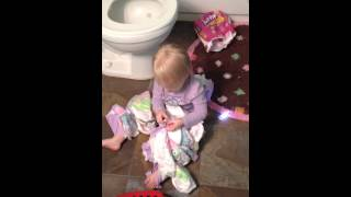 Toddler Potty Trains Herself!