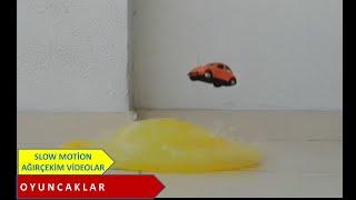 HUAWEİ MATE 30 PRO SUPER SLOW MOTİON. Yellow Car And Baloon. SlowOle. Ağırçekim