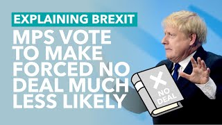 MPs Vote to Block Prorogation (Forced No Deal) - Brexit Explained