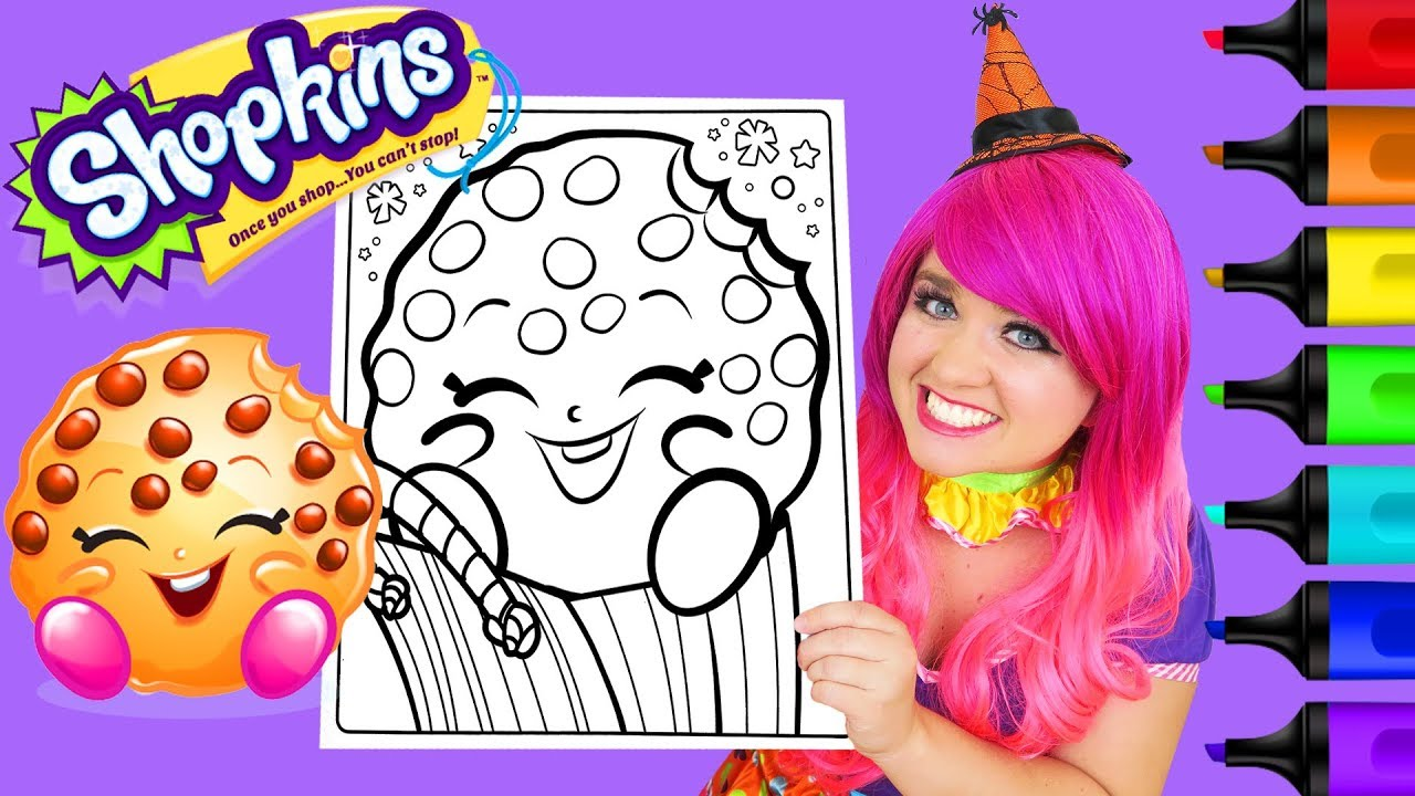 Coloring Shopkins Kooky Cookie Coloring Page Prismacolor Colored