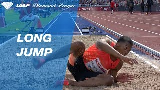 Juan Miguel Echevarría Jumps 8.83 To Win Men's Long Jump - IAAF Diamond League Stockholm 2018 thumbnail