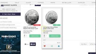 Noah's Ark $0.99 Over Spot Deal, New Dragon & Apollo 11 Gold & Silver