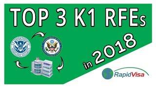 Top 3 RFEs for the K1 Fiancé Visa in 2018