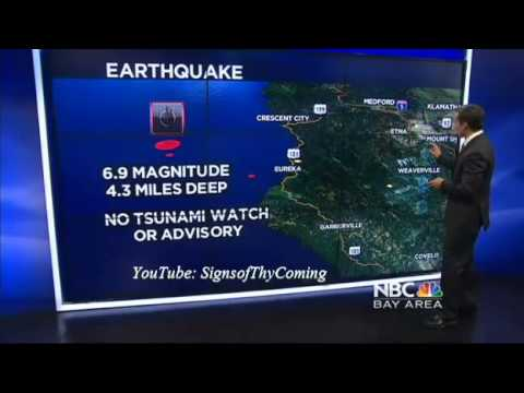 Earthquake : 6.9 Earthquake strikes off the Coast of Northern California near Eureka (Mar 10, 2014)