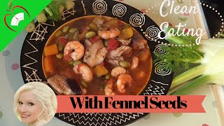 Clean Eating Fish & Prawn Stew Healthy Recipe With Fennel