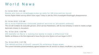 World News Headlines for 19 Oct 2018 - 8 AM Edition