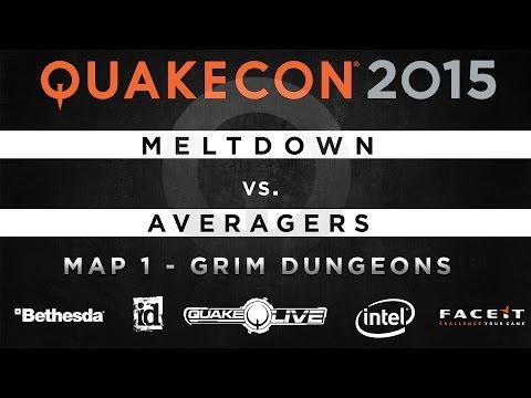 Meltdown vs. Averagers - Map 1 - Grim Dungeons (QUAKECON 2015 TDM)