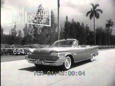 Stock Footage - 1959 Chrysler B-Roll w/ Shots of Hialeah Racetrack