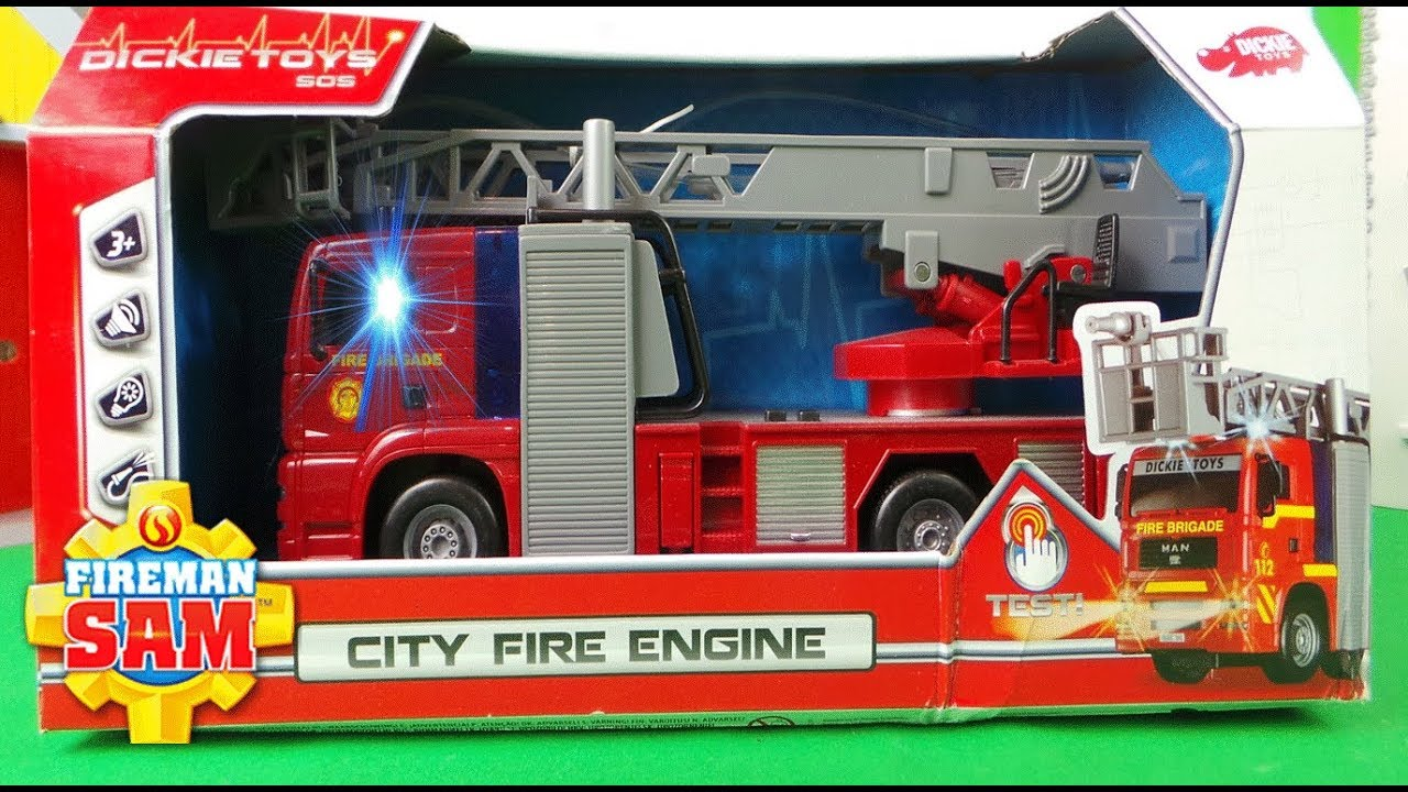 Best Fireman Sam Toys Kids : Fireman sam new fire engine unboxing dickie toys