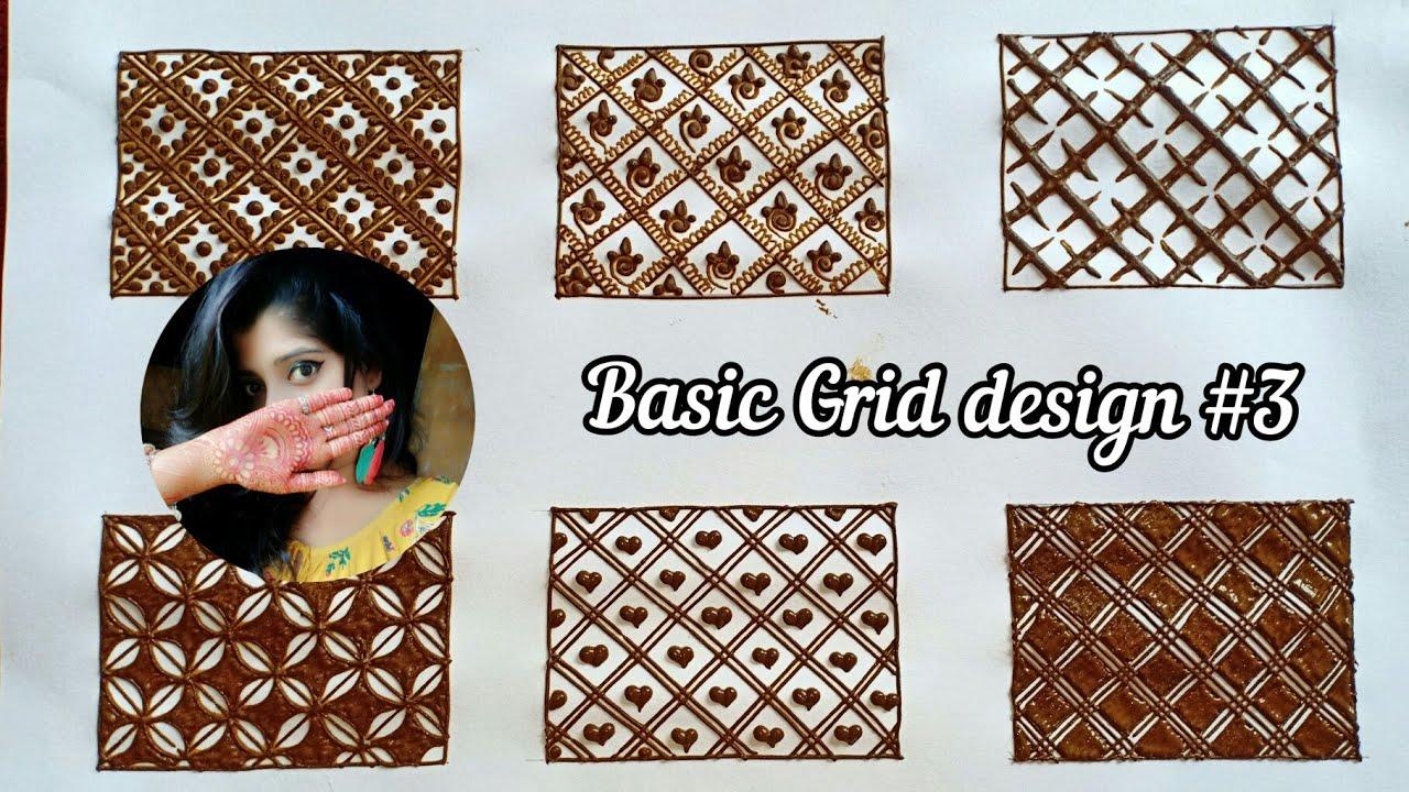 LEARN BASIC GRIDS MEHNDI DESIGN   LEARN BASIC MEHNDI DESIGN FOR BEGINNERS   BASIC MEHNDI DESIGN #3