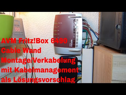 avm fritz box 6490 cable wand montage verkabelung mit kabelmanagement als l sungsvorschlag youtube. Black Bedroom Furniture Sets. Home Design Ideas