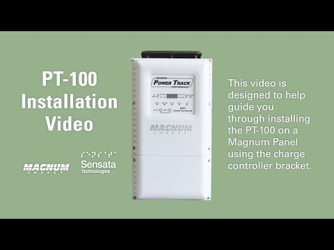 How to Install the PT-100 Charge Controller to the MP Panel System with Charge Controller Bracket