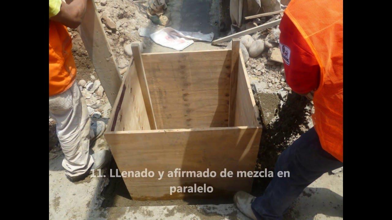 Construccion de caja registro para desagues industriales for Construccion de piscinas con bloques