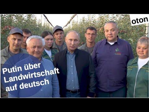 Putin zur Landwirtschaft auf deutsch