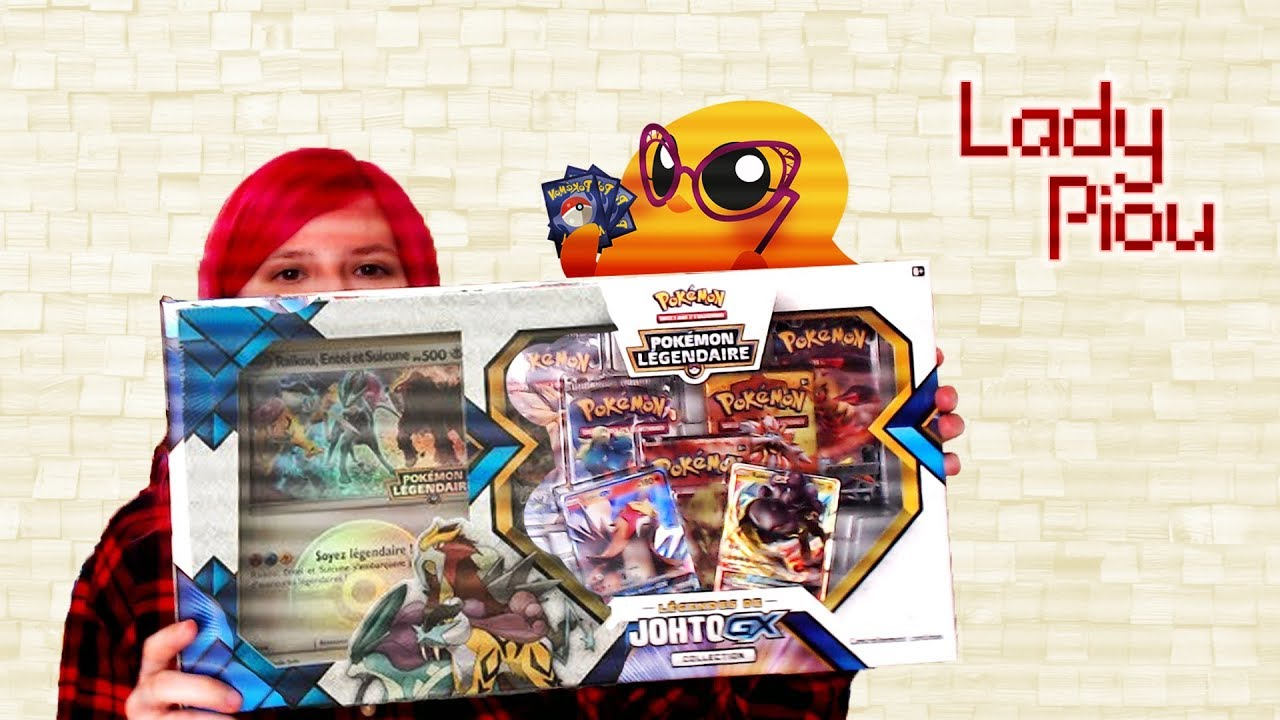 Coffret Pokemon Entei Raikou Legendes de Johto GX Collection chien legendaire
