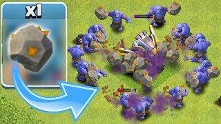 """I GOT A NEW ROCK!!! """"Clash Of Clans""""  BOWLERS UPGRADED TO MAX!!"""