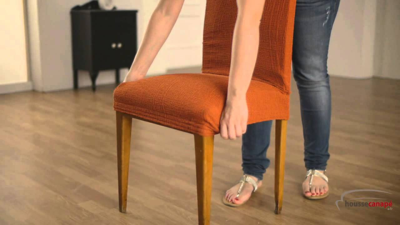Housse pour chaise dossier youtube - Renover assise chaise ...