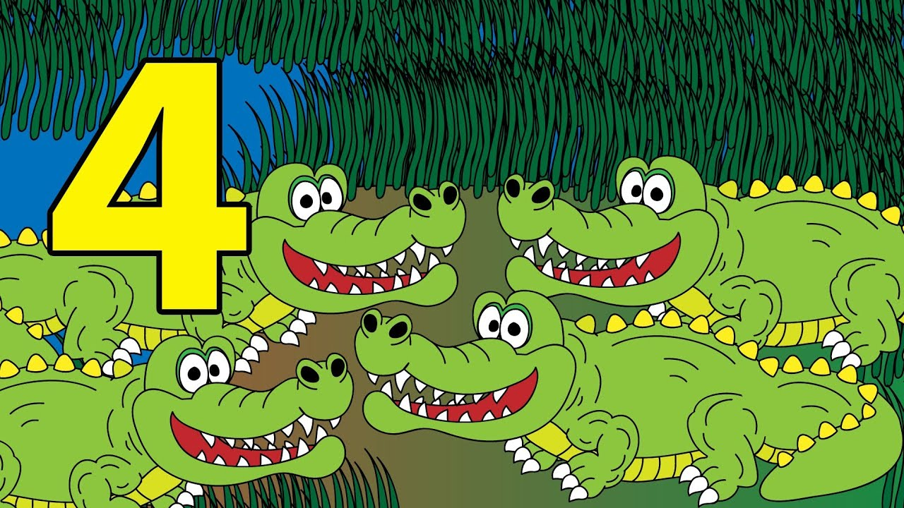 counting crocodiles 1 to 10 learn to count crocodile numbers 1 to 10 stories for children. Black Bedroom Furniture Sets. Home Design Ideas