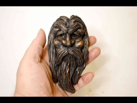 DIY Old Man's Face - Wizard Head - Bearded Face - Human Head DIY