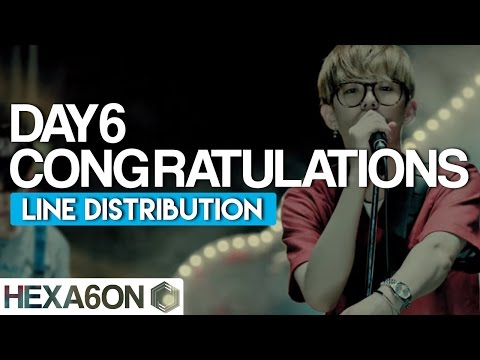 DAY6 - Congratulations Line Distribution (Color Coded)
