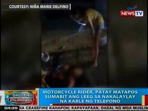 BP: Motorcycle rider, patay matapos sumabit ang leeg sa nakalaylay na kable sa Cebu