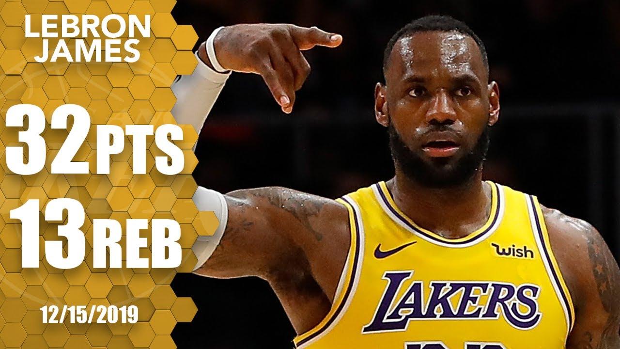 LeBron James puts up impressive 32-point double-double vs. Hawks | 2019-20 NBA Highlights