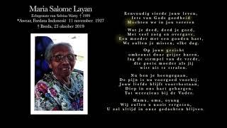 Maluku4 Maluku laatste groet aan Mama Navi Watty(Layan)