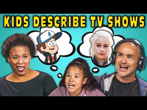 CAN PARENTS GUESS TV SHOWS DESCRIBED BY KIDS? (React)