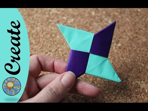 Origami Ninja Star or Chinese Throwing Star