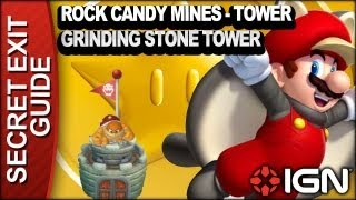 New Super Mario Bros. U Secret Exit Walkthrough - Rock Candy Mines-Tower: Grinding-Stone Tower
