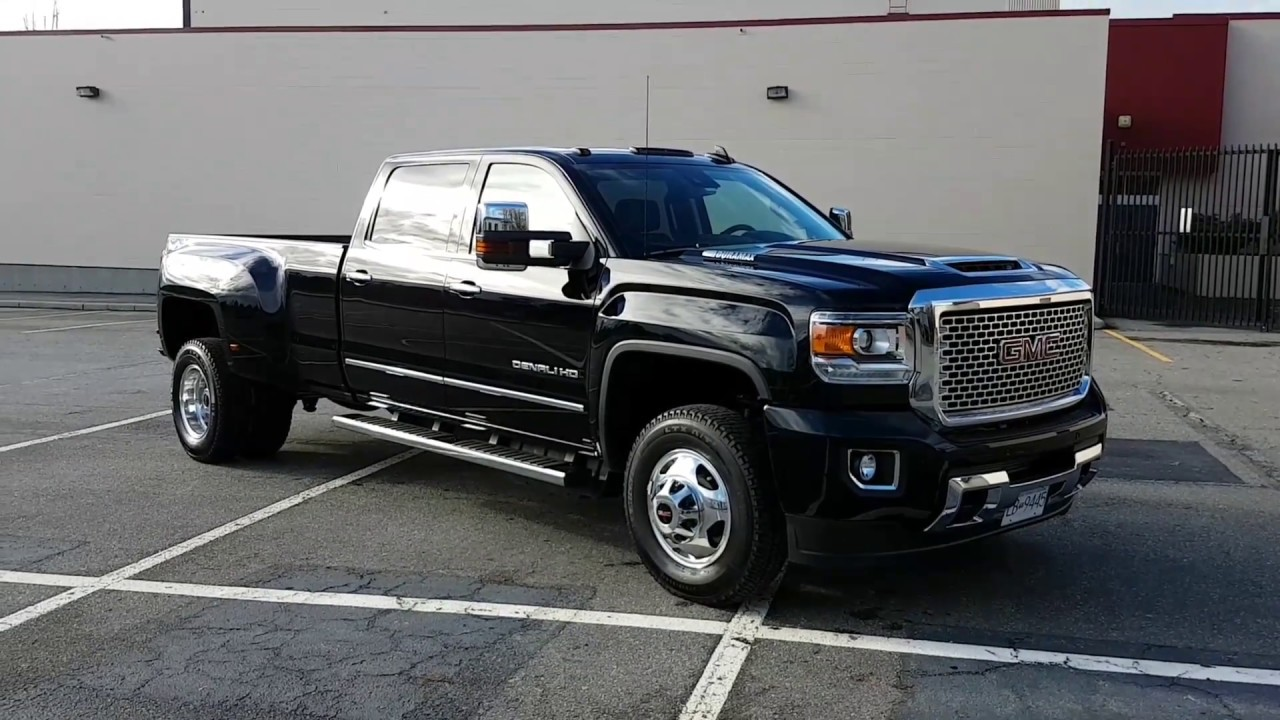 2017 Gmc Sierra Denali 3500 Dually Walk Around And Instrument Panel Review
