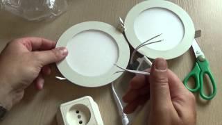 видео Встраиваемые светильники для натяжного потолка