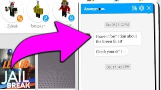 someone emailed me about the GREEN GUEST.. (Roblox)