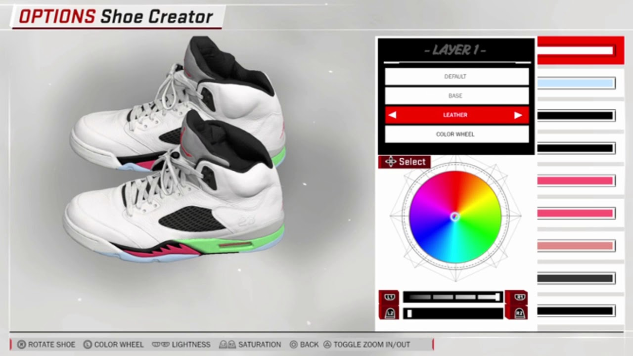NBA 2K18 // Shoe Creator // Jordan 5 Poison Green