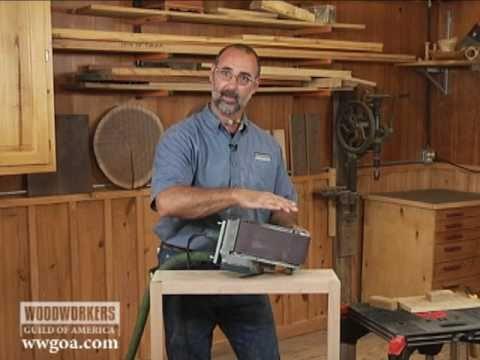 Woodworking Techniques: Power Tools - Belt Sander Tips