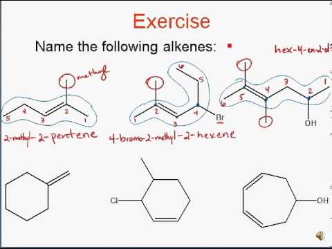 Alkene Nomenclature Example Problems