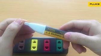 Hướng dẫn sử dụng & Phân biệt bút thử điện cảm ứng Fluke chính hãng
