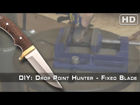 How To Build: The Drop Point Hunter Knife Kit By KnifeKits.com