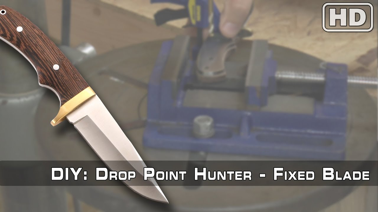 How To Build: The Drop Point Hunter Knife Kit by KnifeKits com