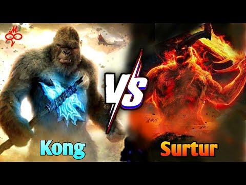 Download Kong vs Surtur in Hindi    monster vs monster    multi versh