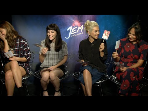 """Justine Magazine: """"Jem and the Holograms"""" Stars Play Games Part 1: Who Is The Most..."""
