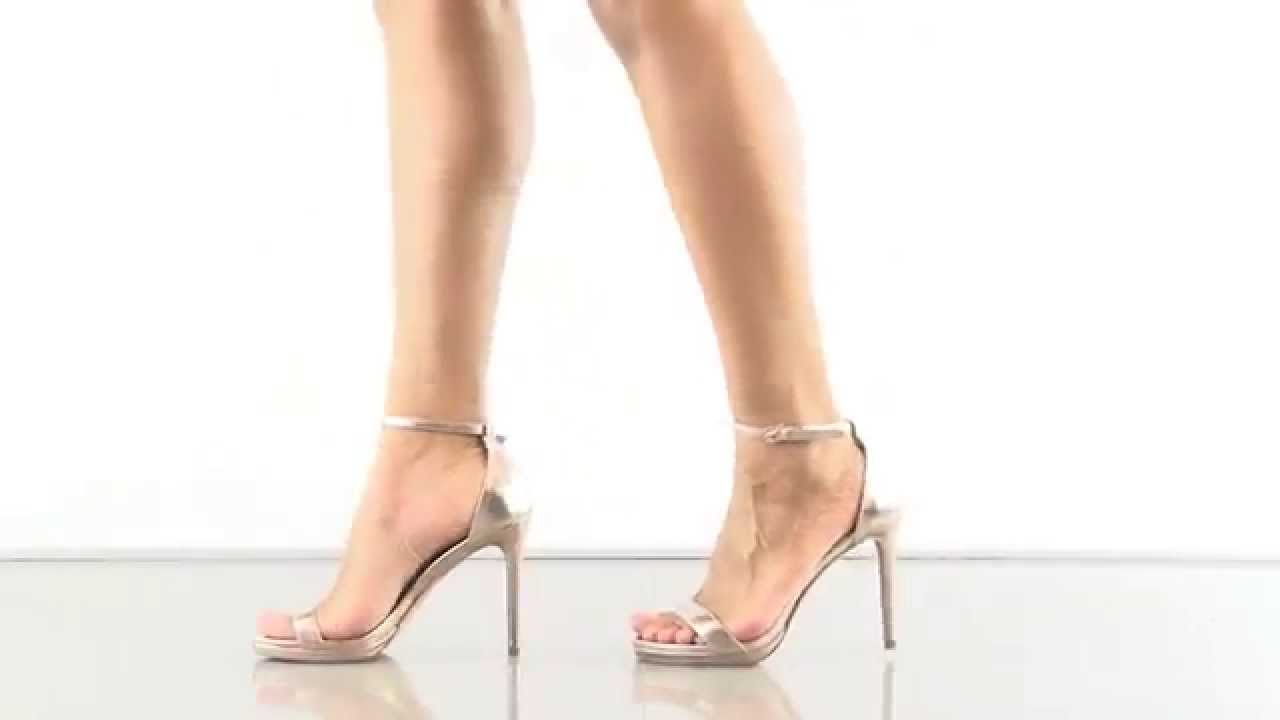 bd1d52ee95d Rykie in Gold Leather Steven by Steve Madden - YouTube