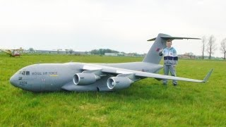 GIANT SCALE C17 GLOBEMASTER - COLIN STRAUSS AT ROUGHAM RC PLANES - 2004
